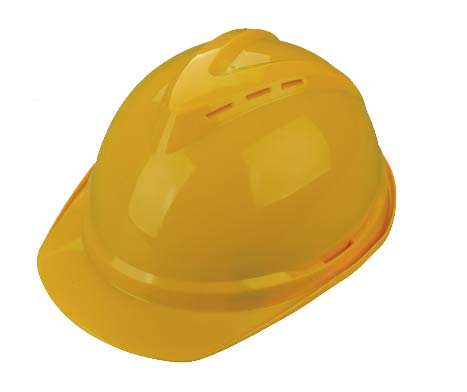 V Type Yellow Safety Helmet