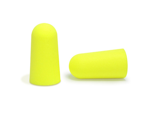 Disposable Foam PU Yellow Earplugs