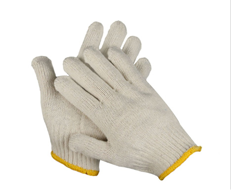 White Cotton Work Gloves